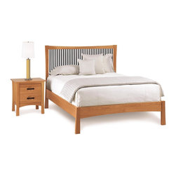 Solid Wood Craftsman Style Beds - The Berkeley Bed is made of solid North American cherry with walnut slats, by Copeland Furniture in Vermont.  Enjoy the beauty of the natural grains and the bed's fine craftsmanship.
