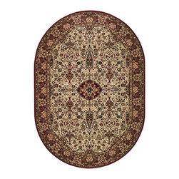"""Couristan - Everest Ardebil Rug 3760/6004 - 4'6"""" x 6'6"""" Oval - These area rugs can work in traditional, transitional and contemporary room-settings. Using the colors of the area rug, match your fabric choices to the yarns found in the area rug color palette for a rich affordable look."""
