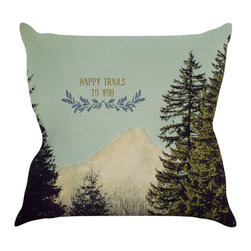 "Kess InHouse - Robin Dickinson Happy Trails Throw Pillow, Green, 20""x20"" - Rest among the art you love. Transform your hang out room into a hip gallery, that's also comfortable. With this pillow you can create an environment that reflects your unique style. It's amazing what a throw pillow can do to complete a room. (Kess InHouse is not responsible for pillow fighting that may occur as the result of creative stimulation)."