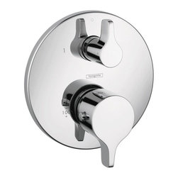 Hansgrohe - Hansgrohe Ecostat S/E Thermostatic Trim with Volume Control, Chrome (04352000) - Hansgrohe 04352000 E/S Thermostatic Trim with Volume Control, Chrome