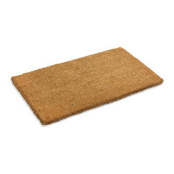 "Kempf - Outdoor Coco Coir Natural Doormat, 18"" X 30"" - Environmentally friendly natural coco mat in various sizes to fit your doorway. Coco mats are made of heavy duty tough coir fiber that are very durable. Woven backed with finished edges, prevent water from retaining as puddles in the mat. They scrape the dirt of your shoes. Easy to clean by vacuuming or by shaking them and beating the dirt out of them. A new mat will tend to shed some fibers in the beginning, it is recommended to shake the mat the first few weeks to get rid of the shorter fibers. After a period of time the fibers settle down and there is less shedding. These coco mats do not mildew or rot. They are water absorbent and dry quickly."