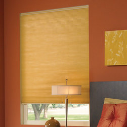 "Comfortex - Comfortex 3/8-inch Double Honeycomb Cellular Shades: Symphony Blackout - Nicknamed ""The Insulator"", this cellular shade offers maximum energy efficiency and blackout light control."