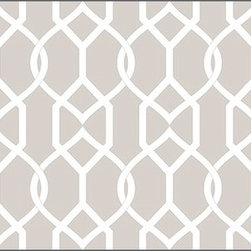 Casart Coverings - Groovy Gate Wallcoverings, Hampton Beige, Border (13 Sq Ft), Casart Light - Celebrate the easy, elegant and everyday style of Libby Langdon with her fresh geometric designs on Casart repositionable, temporary and reusable wall covering. Groovy Gate is one of the four classic geometrics from the Collection, which can be custom printed on self-adhesive vinyl covering.