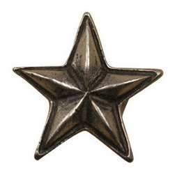 Anne at Home Hardware - Star  Knob, Antique Bronze - Made in the USA - Anne at Home customized cabinet hardware enables even the most discriminating homeowner to achieve the look of their dreams.  Because Anne at Home cabinet hardware is designed to meet your preferences, it may take up to 3-4 weeks to arrive at your door. But don't let that stop you - having customized Anne at Home cabinet knobs and pulls are well worth the wait!   - Available in many finishes.