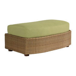 Woodard - Whitecraft by Woodard Oasis Ottoman and a Half - S507007 - Shop for Ottomans and Footstools from Hayneedle.com! The Whitecraft by Woodard Oasis Ottoman is big enough to serve the whole tribe. The Bedouin culture of northern Africa is comprised of nomadic tribes that rely on desert oases for subsistence gathering pecans figs dates and water. Similarly this handsome ottoman gives you and your friends a place in your backyard where you can put your feet up and escape the harsh world outside. The attractive hand-woven wicker available in a choice of colors has a worldly feel that recalls both the material's early Mediterranean roots in ancient Egypt Persia and Rome as well as its more contemporary manifestations in modern California resorts making a perfect fit in any outdoor decor. The top cushion can provide hours of comfortable sitting as loungers prop their feet up on this stool and enjoy their own decadent dates figs and pecans together. The cushion can also be tailored to your personal tastes through a choice of fabric grades and colors and optional trim upgrades. Or depending on the number in your company this piece can also serve as an extra seat or surface for setting drinks plates phones or other personal items. The aluminum frame provides a strong durable base that is still lightweight enough to easily move around your patio.Woodard: Hand-crafted to Withstand the Test of TimeFor over 140 years Woodard craftsmen have designed and manufactured products loyal to the timeless art of quality furniture construction. Using the age-old art of hand-forming and the latest in high-tech manufacturing Woodard remains committed to creating products that will provide years of enjoyment.Superior Materials for Lasting DurabilityAll Seasons Outdoor Wicker is the latest addition to the Woodard line of quality furniture. Each piece is constructed using cutting-edge synthetic fibers hand-woven over an aluminum frame. With this combination of resilient weather-resistant 