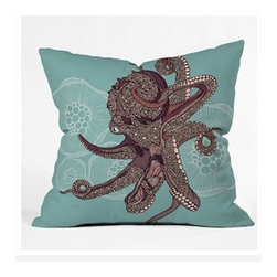 "DENY Designs - Valentina Ramos Octopus Bloom Throw Pillow - Wanna transform a serious room into a fun, inviting space? Looking to complete a room full of solids with a unique print? Need to add a pop of color to your dull, lackluster space? Accomplish all of the above with one simple, yet powerful home accessory we like to call the DENY Throw Pillow! Features: -Valentina Ramos collection. -Color: Print. -Material: Woven polyester. -Sealed closure. -Spot treatment with mild detergent. -Made in the USA. -Closure: Concealed zipper with bun insert. -Small dimensions: 16"" H x 16"" W x 4"" D. -Medium dimensions: 18"" H x 18"" W x 5"" D. -Large dimensions: 20"" H x 20"" W x 6"" D. -Product weight: 3 lbs."