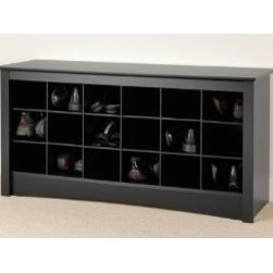 Winslow Shoe Storage Cubbie Bench - This is a nice wooden rack that give shoe space some sophistication. However, you are limited to a certain size and height.