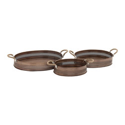 Simply Stunning Metal Tray, Set of 3 - Description: