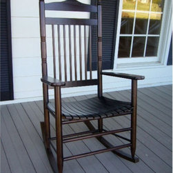 Dixie Seating - Standard Slat Porch Rocking Chair in Walnut F - Designed for both indoor or outdoor use, this classic rocking chair will be an inviting choice for any front or back porch. Ideal for enjoying a glass of lemonade on a warm summer day. Classic indoor and outdoor standard adult slat porch rocking chair. Made of solid ash hardwood. Made in the USA. Ready to assemble format. Minimum assembly required. Underside is unsanded. 25 in. W x 19 in. D x 42 in H