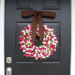 Chocolate Kisses Valentine's Day Wreath, Mini by Elegant Holidays - This is beautiful for both Valentine's Day and the coming of spring.