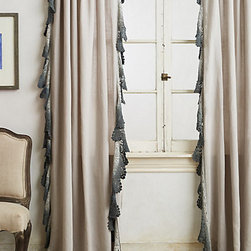 Anthropologie - Ombré Lace Curtain, - A fringed curtain is so boho.