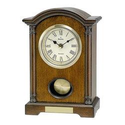 BULOVA - Dalton Pendulum Table Clock with Westminster Chime - Solid wood and wood veneer case