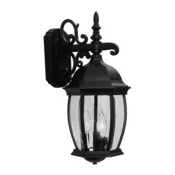 Livex Lighting - Livex Lighting 7535 3 Light 120W Down Lighting Wall Sconce with Candelabra Bulb - 3 Light 120W Down Lighting Wall Sconce with Candelabra Bulb Base and Clear Beveled Glass from Kingston SeriesProduct Features: