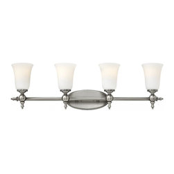 Hinkley - Hinkley Yorktown Four Light Antique Nickel Vanity - 32.75 in. x 9.5 in. - This Four Light Vanity is part of the Yorktown Collection and has an Antique Nickel Finish. It is Damp Rated.