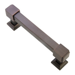 Southern Hills - Southern Hills Oil Rubbed Bronze Cabinet Pull 'Cedarbrook' (Pack of 5) - Pack of 5 oil rubbed bronze cabinet pulls.  Total length is 4.75 inches,with screws spaced at 4 inches.
