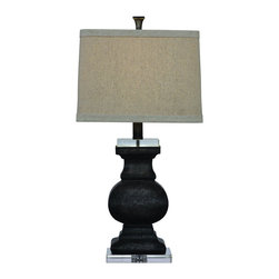 Bassett Mirror Company - Bassett Mirror L2550T Carmel Table Lamp in Grey Stone - Carmel Table Lamp in Grey Stone belongs to Easy Living Collection by Bassett Mirror Company Bassett Mirror is fluent in this art, showing a terrific contemporary furniture that will satisfy on the one hand fans of home coziness, and on the other hand - seekers of non-standard design solutions also. One of the many strengths of the Bassett Mirror is using high quality materials for perfect embodiment of brilliant design ideas. Lamp (1)