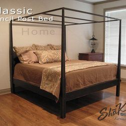 Classic Pencil Post Canopy Bed - Wood Designs Inc.  All Rights Reserved.