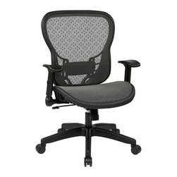 Office Star - Office Star 529 Series SpaceGrid Back Chair with Flip Arms - Office Star - Office chairs - 529R22N1F2 - Enjoy the office star office chair and get to work in style with this sleek and comfortable office chair. The simplicity and the comfort of the chair can make any office setting look more complete. Space seating Deluxe R2 SpaceGrid back and seat with flip arms
