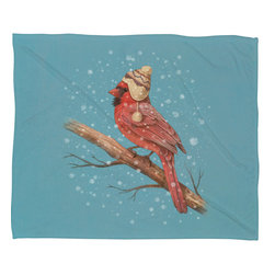 DENY Designs - DENY Designs Terry Fan First Snow Fleece Throw Blanket - This DENY fleece throw blanket may be the softest blanket ever! And we're not being overly dramatic here. In addition to being incredibly snuggly with it's plush fleece material, you can also add a photo or select a piece of artwork from the DENY Art Gallery, making it completely custom and one-of-a-kind! And when you've used it so much that it's time for a wash, no big deal, as it's machine washable with no image fading. Plus, it comes in three different sizes: 80x60 (big enough for two), 60x50 (the fan favorite) and the 40x30. With all of these great features, we've found the perfect fleece blanket and an original gift!