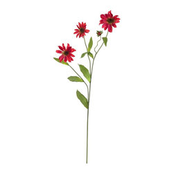 Nearly Natural - 28.5 in. Cosmo Stem - Set of 12 - Stems curve and branch out spider-like. Blooms that burst forth with color. A perfect give for that special someone. Construction Material: Polyester material, Iron wire. 9 in. W x 7 in. D x 28.5 in. H ( 2 lbs. )What an interesting flower we have here: the cosmos stem is appealing to the eye for several reasons. First, it has interesting steams that curve and branch in a spider-like manner. Then, these stems are adorned with leafy greens, and full blooms that burst with color. Available in several hues, this Cosmos stem makes the perfect gift for that special someone who appreciates unique beauty.