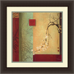 Amanti Art - Spring Chorus Framed Print by Don Li-Leger - The longer you look at this print, the more appreciation you'll have for the levels of intricacy in Don Li-Leger's work. His three-dimensional scene highlights the complexity of cherry blossoms and tall grass. Display in the areas of your home where you know this serenity will bring a calming effect.