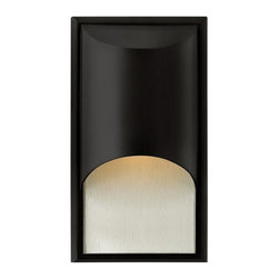 Hinkley Lighting - Hinkley Lighting 1830SK-GU24 Cascade 1 Light Outdoor Wall Lights in Satin Black - The clean, modern lines of Cascade complement the rich alabaster glass, while creating a glowing, indirect lighting effect. The sleek aluminum construction adds to the design�s versatility, making this contemporary style perfect for either interior or exterior use. Cascade is standard Dark Sky and ADA compliant.