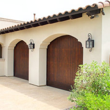 Mediterranean Garage Doors by Rick O'Donnell Architect
