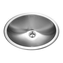 Houzer - Houzer CHO-1800 Lavatory Oval Bowl, Undermount Sink with Overflow - Houzer Stainless Steel bathroom sink Opus Undermount 18 gauge Lavatory Bowl w/ Overflow.