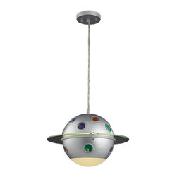 Elk Lighting - Elk Lighting 5096/1 1 Light Constellation Pendant in Satin Nickel - 1 Light Constellation Pendant in Satin Nickel belongs to Novelty Collection by Elk Lighting Fun For All Ages!  These Whimsical Lighting Fixtures Will Put A Smile On You Or Your Child's Face With A Myriad Of Shapes And Themes Meant To Stir The Imagination And Create A Lighthearted Environment.  Pendant (1)