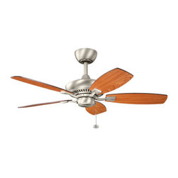 """Kichler - Kichler 300107NI Canfield 44"""" Indoor Ceiling Fan with 5 Blades - w/6"""" Downrod - Kichler 300107 Canfield 44"""" Ceiling Fan"""