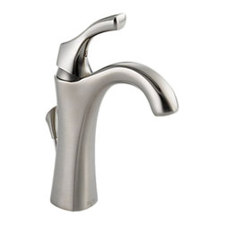 Delta - Delta 592-SS-DST Addison Single Handle Centerset Lavatory Faucet (Stainless) - The Addison collection offers a dainty, sea-shell inspired design, giving your bathroom a statuesque, enchanting touch to your bath.