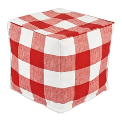 Chooty & Co. - Chooty & Co. Anderson Zippered Beads Foot Stool - Red Multicolor - BP13K2110 - Shop for Ottoman & Footstools from Hayneedle.com! A 100% cotton cover in a red and white gingham pattern gives a look of classic comfort to the Chooty & Co. Anderson Zippered Beads Foot Stool Red. This foot stool is filled with EPS Styrofoam beads and is custom made in Council Bluffs Iowa.About Chooty & Co.A lifelong dream of running a textile manufacturing business came to life in 2009 for Connie Garrett of Chooty & Co. This achievement was kicked off in September of '09 with the purchase of Blanket Barons well known for their imported soft as mink baby blankets and equally alluring adult coverlets. Chooty's busy manufacturing facility located in Council Bluffs Iowa utilizes a talented team to offer the blankets in many new fashion-forward patterns and solids. They've also added hundreds of Made in the USA textile products including accent pillows table linens shower curtains duvet sets window curtains and pet beds. Chooty & Co. operates on one simple principle: What is best for our customer is also best for our company.