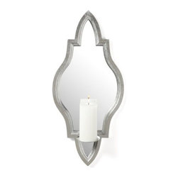 Z Gallerie - Fairfield Wall Sconce - With a graceful classic shape in sophisticated silver, our elegant Fairfield Wall Sconce gives distinction to your decor. The traditional moulding, finished in striking antiqued silver, surrounds a mirror to reflect and enhance the candlelight. An attached metal plate supports a standard 3 inch diameter pillar candle (not included).