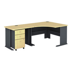Bush - Bush Series A 3-Piece Corner Computer Desk in Beech - Bush - Computer Desks - WC14366PKG3