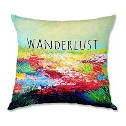 DiaNoche Designs - Pillow Woven Poplin - Julia Di Sano Wanderlust - Toss this decorative pillow on any bed, sofa or chair, and add personality to your chic and stylish decor. Lay your head against your new art and relax! Made of woven Poly-Poplin.  Includes a cushy supportive pillow insert, zipped inside. Dye Sublimation printing adheres the ink to the material for long life and durability. Double Sided Print, Machine Washable, Product may vary slightly from image.