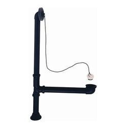 "Elizabethan Classics - Elizabethan Classics ECLTDORB Oil Rubbed Bronze  21 3/4-Inch Leg Tub - Leg Tub Drain with Chain & Stopper The Elizabethan Classics collection provides everything you need to complete the kitchen or bath of your dreams.  Classic cast iron clawfoot tubs, acrylic clawfoot tubs, bath faucets, Victorian-style water closets, pedestal lavatories and console lavatories – all inspired by the days when style was warm, comfortable and appealing with just a flourish of understated sophistication.  Old-world charm with contemporary function.  1-1/2"" OD Brass Tubing Maximum Depth: 21-3/4"""