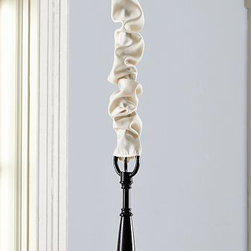 Basic Electrical Cord Cover, Ivory - Our ivory Basic Cord Cover conceals chains and electrical cords, giving your chandelier a soft, romantic look. 6' long Ivory-colored cotton/polyester blend. Catalog / Internet Only. Imported.