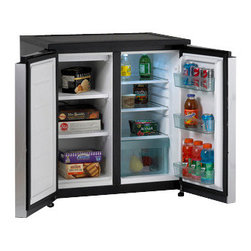 "Avanti - SIDE-BY-SIDE Compact Refrigerator/Freezer - Dimensions: 33.5"" H x 31"" W x 23"" D"