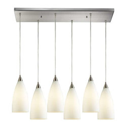 Elk Lighting - Elk Lighting 2580/6rc Vesta Transitional Multi Light Mini Pendant Light - Elk Lighting 2580/6rc Vesta Transitional Multi Light Mini Pendant Light in Satin Nickel