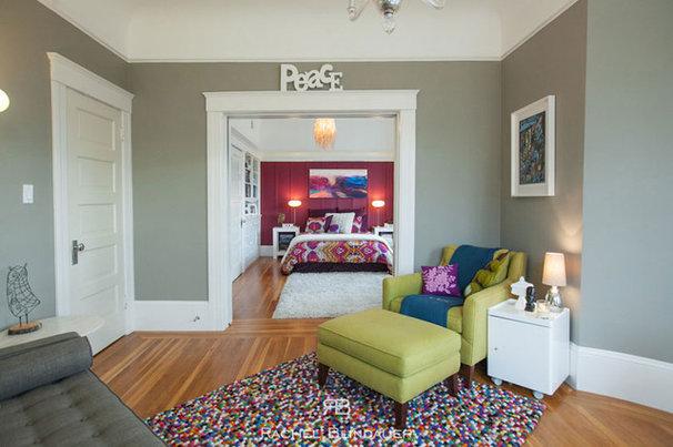 Eclectic Living Room by Rachel Blindauer Interior Design