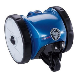 """Frontgate - Polaris 9100 Sport Robotic - """"Plug-and-play"""" vortex vacuum technology works quickly and efficiently to clean pool floor and wall coves. Compact design reaches the tightest pool corners. 2-1/2 liter Quick-release filter canister is designed for fine filtration and fewer cleanings. Filter canister's unique construction lets you simply shake out debris, then hose the canister clean. Efficiently cleans pools up to 40 ft.. Enjoy a perfectly clean pool in just two hours. The Polaris 9100 Sport Robotic Cleaner uses patented vortex vacuum technology to capture large and small debris without losing suction. Plus, the easy-to-clean, quick-release filter canister captures fine debris before it gets to your filtration system.  .  .  .  .  . Suitable for all pool surfaces . Includes a 50 ft. double-insulated floating cable . Rear water propulsion system expels water out the back, eliminating the need to pull a water-logged cleaner out of the pool . Ultimate power captures maximum debris . Costs pennies per day to operate . 2 year limited manufacturer warranty ."""