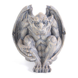 None - Watchful Gargoyle - This grey Kelkay gargoyle is a friendly guardian for the home. Made from durable resin-stone,the collectible garden ornament is designed for both indoor and outdoor use and looks great anywhere around the home or garden.