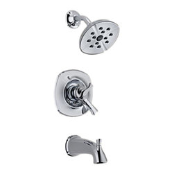 Delta - Delta T17492 Addison Monitor 17 Series Tub and Shower Trim (Chrome) - Delta T17492 Addison Collection features delicate and graceful curves inspired by the shapes from a sea shell. The Delta T17492 is a Monitor Tub And Shower Trim in Chrome.