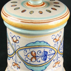 EuroLux Home - Consigned Vintage Hand-Painted Italian Deruta Pharmacy - Product Details