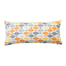 "Silver Fern Decor - 20"" X 54"" Contemporary Orange & Yellow Body Pillow Cover - - 20""x54"" big body pillow cover"