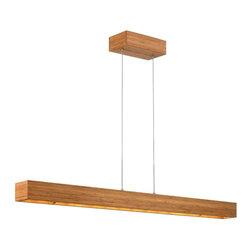 Fredrick Ramond - Fredrick Ramond Zen Bamboo Linear Pendant, Large - Fredrick Ramond Zen FR46206BAM Bamboo Linear Pendant