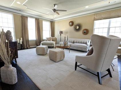 Living Room by NILE JOHNSON INTERIOR DESIGN