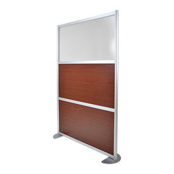 LOFTwall - Loft Wall Room Partition LW45 - The Loft wall Room Partition LW45 is three panels tall and one wide panel in width. Perfect for creating privacy within a larger room, this room divider is available in a variety of mix-and-match panel colors. Made from aluminum.
