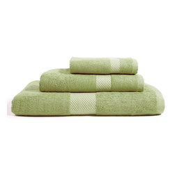 Bambeco Organic Combed Cotton Green Apple Towel Set - Crafted to plush perfection, our 100% organic cotton towels offer durable construction, ultra-absorbency, and a naturally luxurious feel. These towels are made from the finest organic combed cotton, which means all the shorter and breakable cotton fibers have been combed out, producing an extremely soft and long-lasting towel. The Organic Combed Cotton Green Apple Towels are GOTS certified in a production process that captures all wastewater and emissions. Available colors: Pure White, Chocolate, Dreamy Blue, Ecru, Green Apple, Gray.Sets include: 1 Wash Cloth 13 sq., 1 Hand Towel 15 x 30, 1 Bath Towel 30 x 56.Note: The Organic Combed Cotton Green Apple Towels are currently backordered; our apologies. It will be available to ship on or about July 1, 2014.
