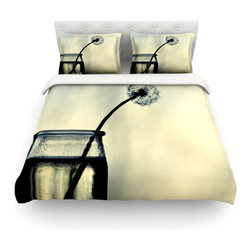 """Kess InHouse - Ingrid Beddoes """"Make A Wish"""" Cotton Duvet Cover (King, 104"""" x 88"""") - Rest in comfort among this artistically inclined cotton blend duvet cover. This duvet cover is as light as a feather! You will be sure to be the envy of all of your guests with this aesthetically pleasing duvet. We highly recommend washing this as many times as you like as this material will not fade or lose comfort. Cotton blended, this duvet cover is not only beautiful and artistic but can be used year round with a duvet insert! Add our cotton shams to make your bed complete and looking stylish and artistic! Pillowcases not included."""